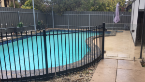 Curved Tubular Pool Fence