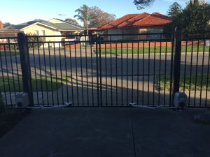 Double Automated Gate in Tubular Steel by Reliance Fencing Adelaide