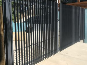 Blade Style Steel Tube Driveway Gates in Skye Reliance Fencing in Adelaide by Reliance Fencing Adelaide