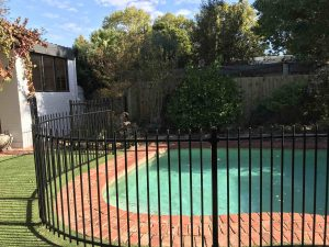 Curved Tubular Pool Fencing