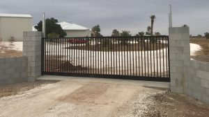 Large Sliding Gate by Reliance Fencing Adelaide