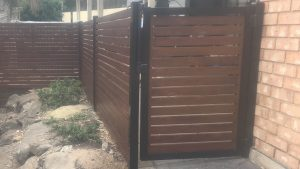 Timber Look Aluminium Slat Fencing and Gate Adelaide