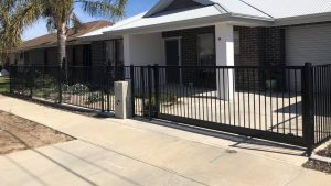 Tubular Flat Top Fence and Driveway Gate