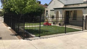 3 Rail Steel Front Fence Adelaide