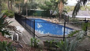 Flat top pool fencing adelaide